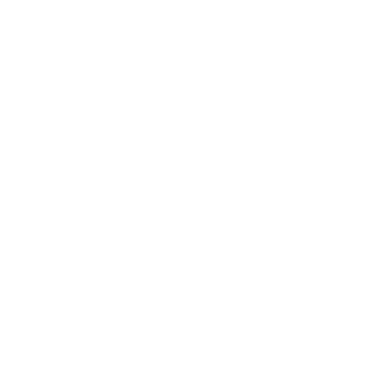 The Tame Fox logo white